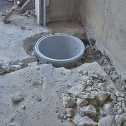 Placing a sump pit in a Espanola home