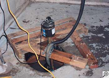 A Temiskaming Shores sump pump system that failed and lead to a basement flood.
