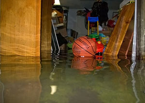 A flooded basement bedroom in Chapleau
