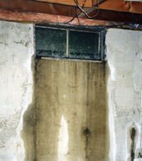 Flooding through basement windows in a Sultan home.