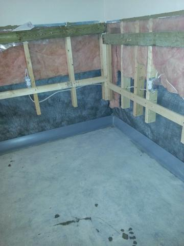 Leaky Manitoulin Island Basement solved using DryTrak - After Photo